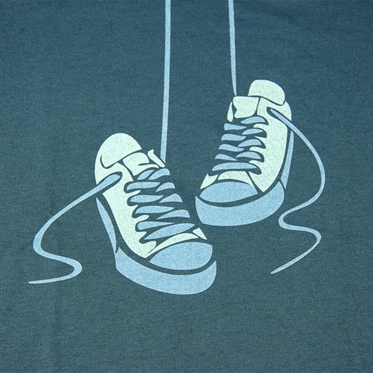 print tenisica na zelenoj majici
