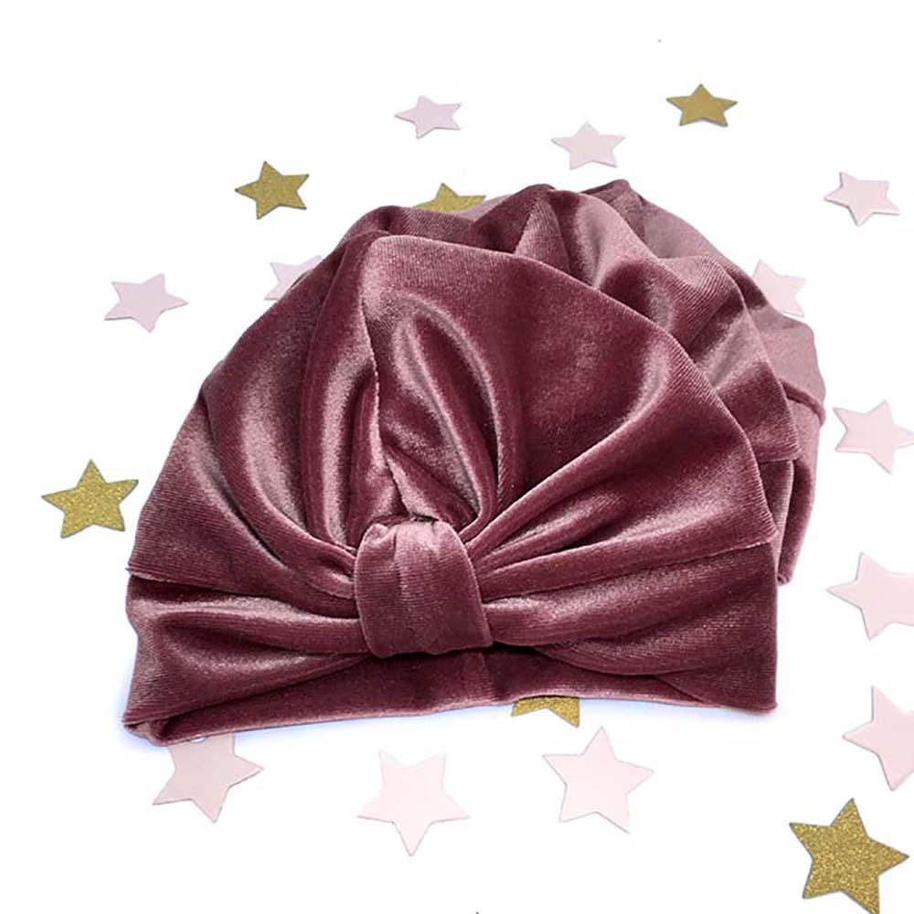 rozi velvet plišani turban za mame, djevojčice i bebe