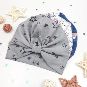 sivi turban surinami za bebe i djevojčice