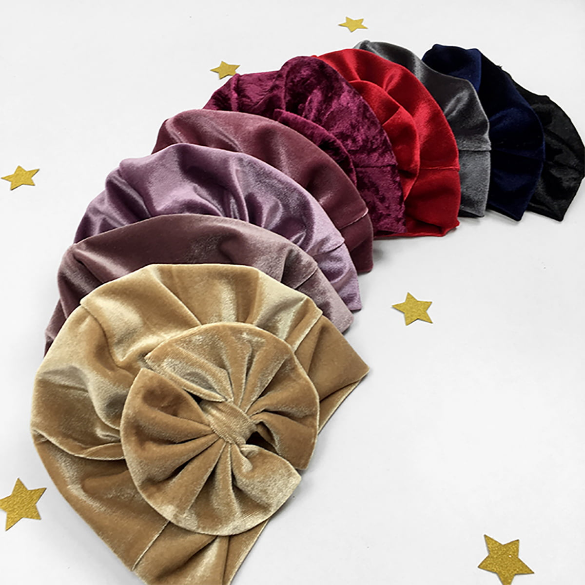 plišani turbani u raznim bojama