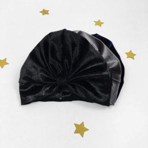 Velvet surinami turban crni plišani