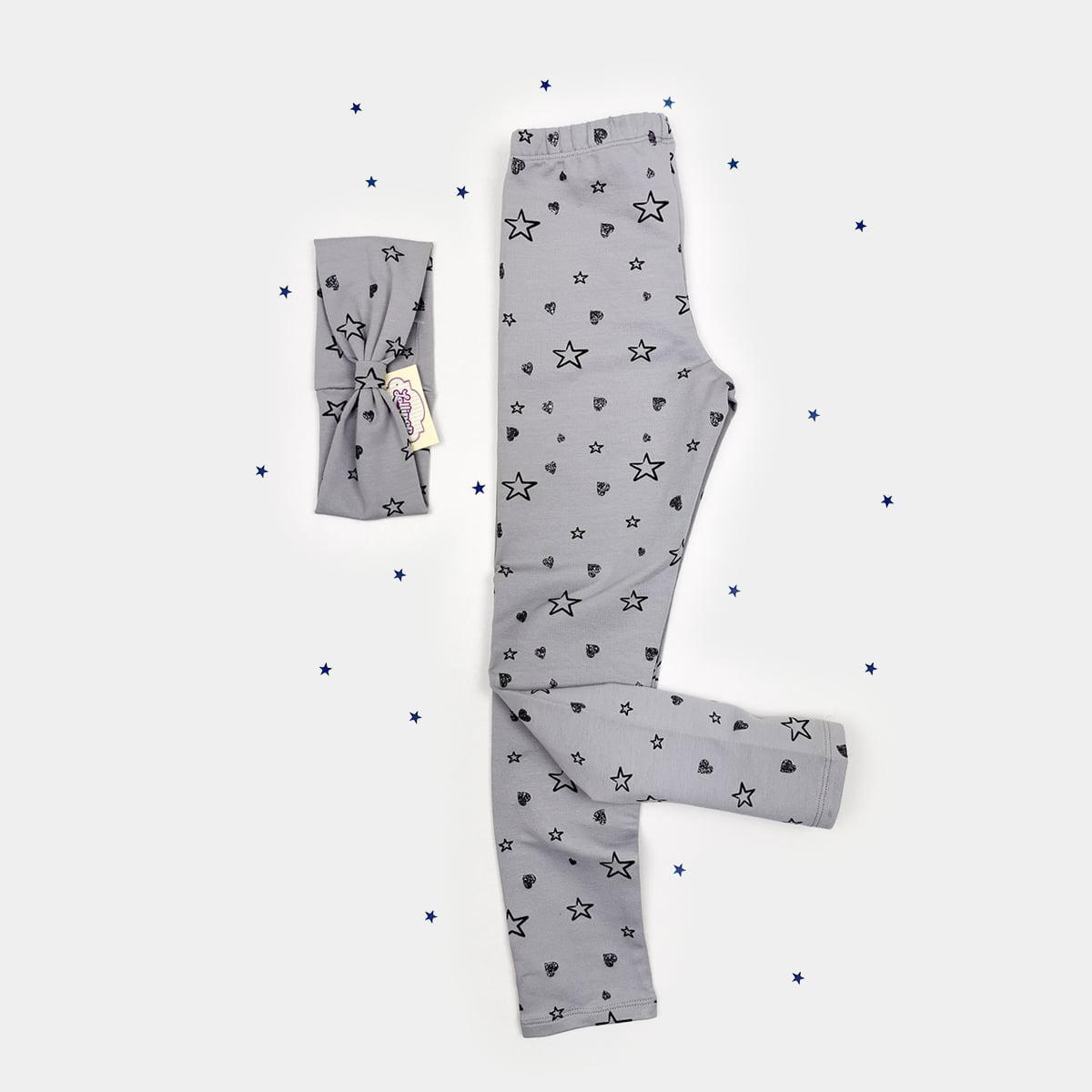 tajice i trakica sive zvijezdice komplet