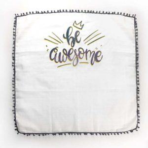 Siva pom pom tetrica ljetni pokrivač za bebe
