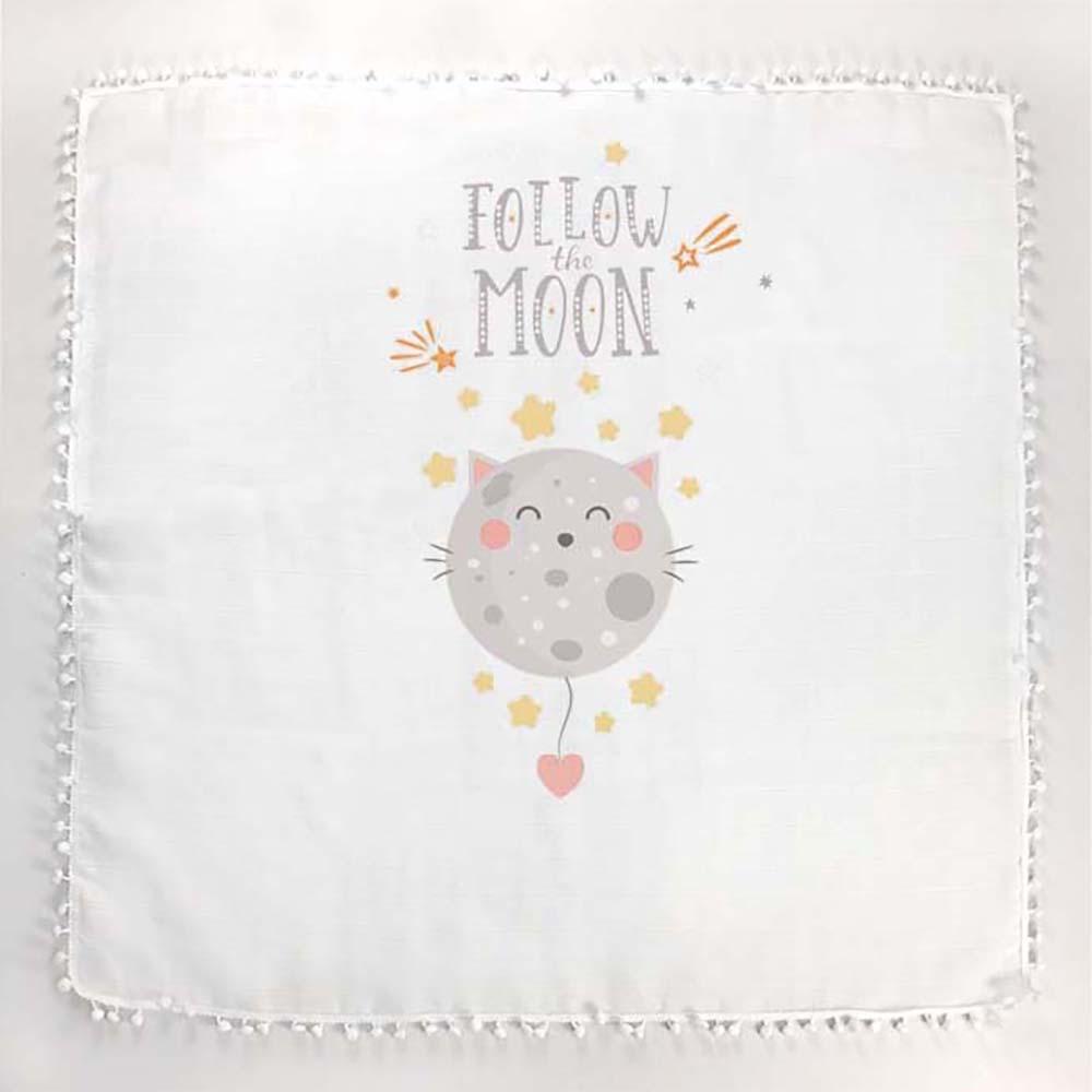Bijela pom pom tetrica ljetni pokrivač za bebe