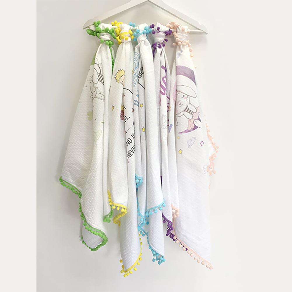 Šarene pompom tetrice pokrivači za bebe