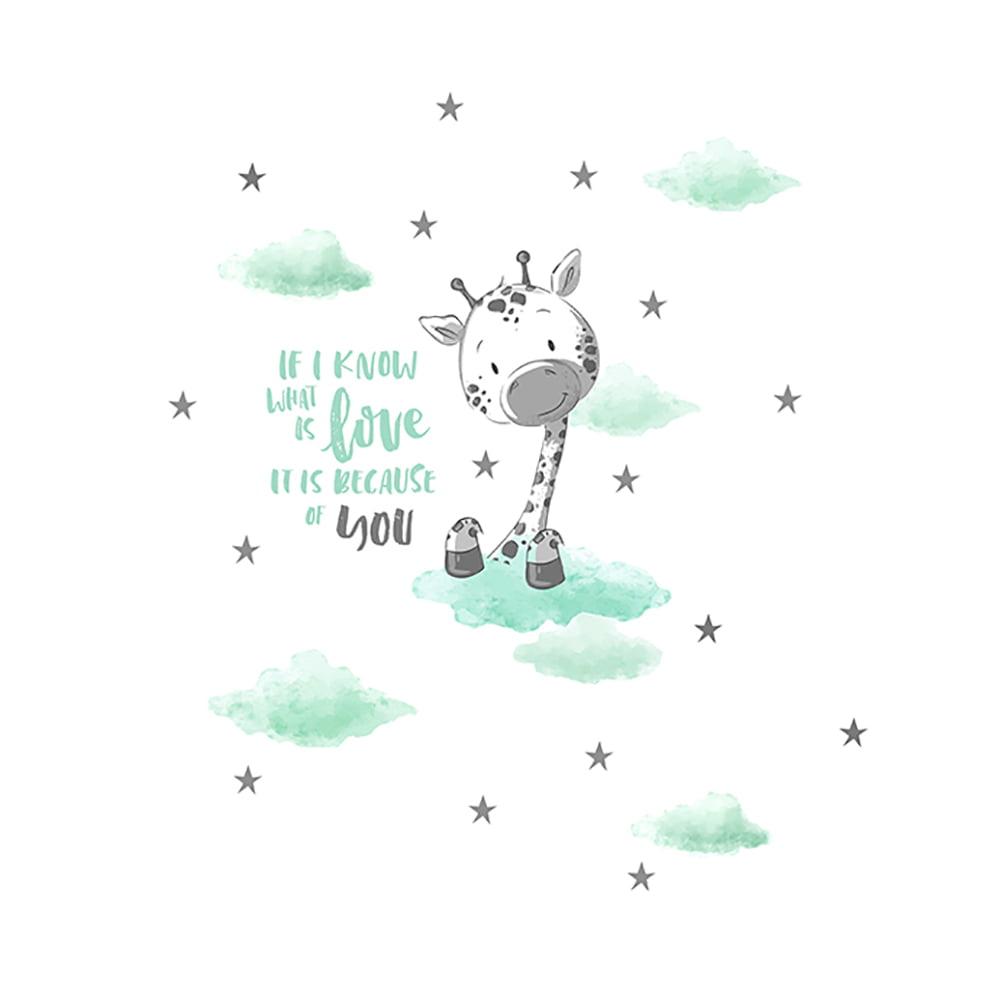 Žirafa ilustracija za bebe na tetra peleni
