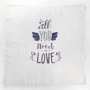 Love unisex tetra pelena s inspirativnim natpisom