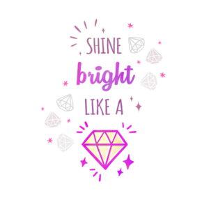 Diamond natpis na tetra peleni za djevojčice