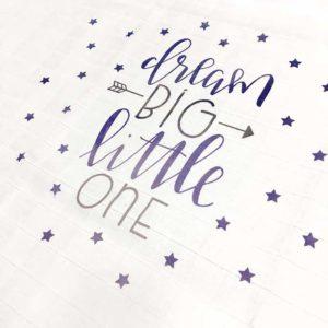 Dream big tetrica za bebe sa zvijezdicama