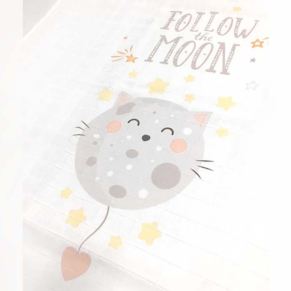 Follow the moon, nježna ilustracija unisex tetrice