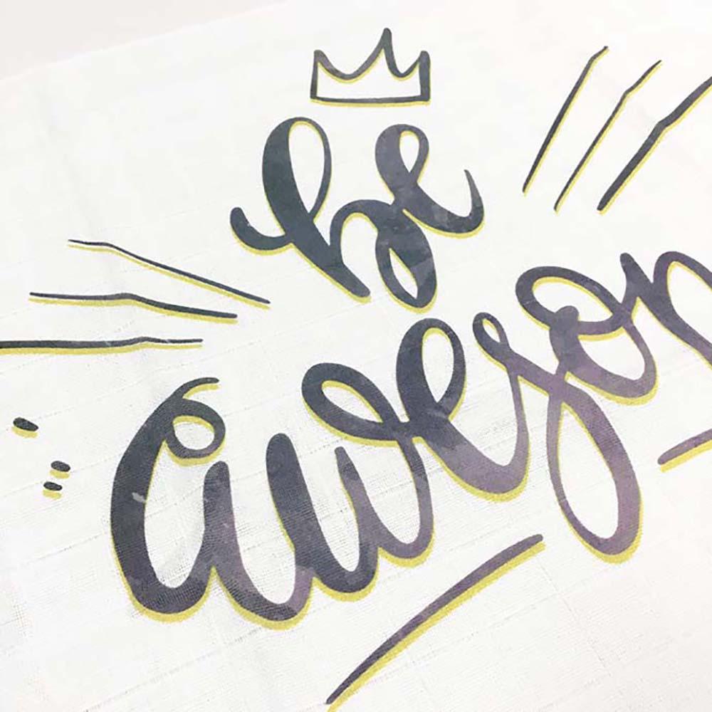 Be awesome tetrica unisex s natpisom