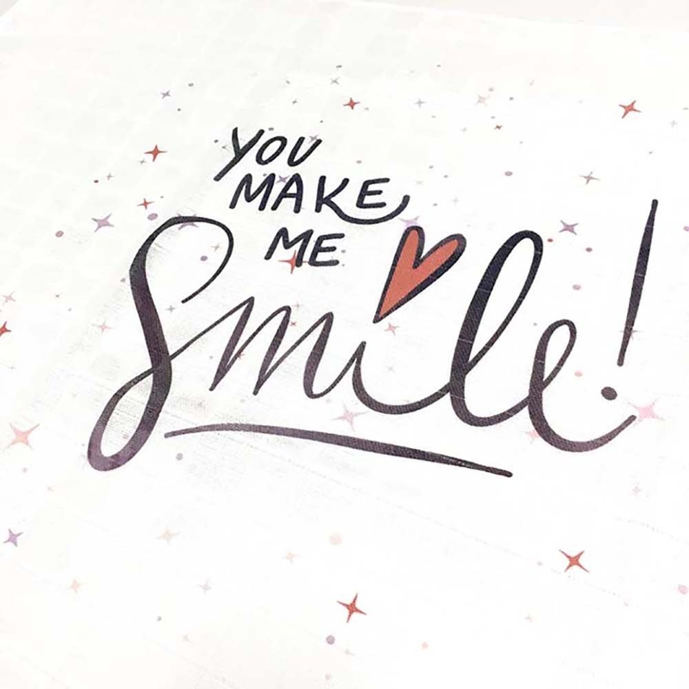 Smile tetrica za novorođene bebe s printom