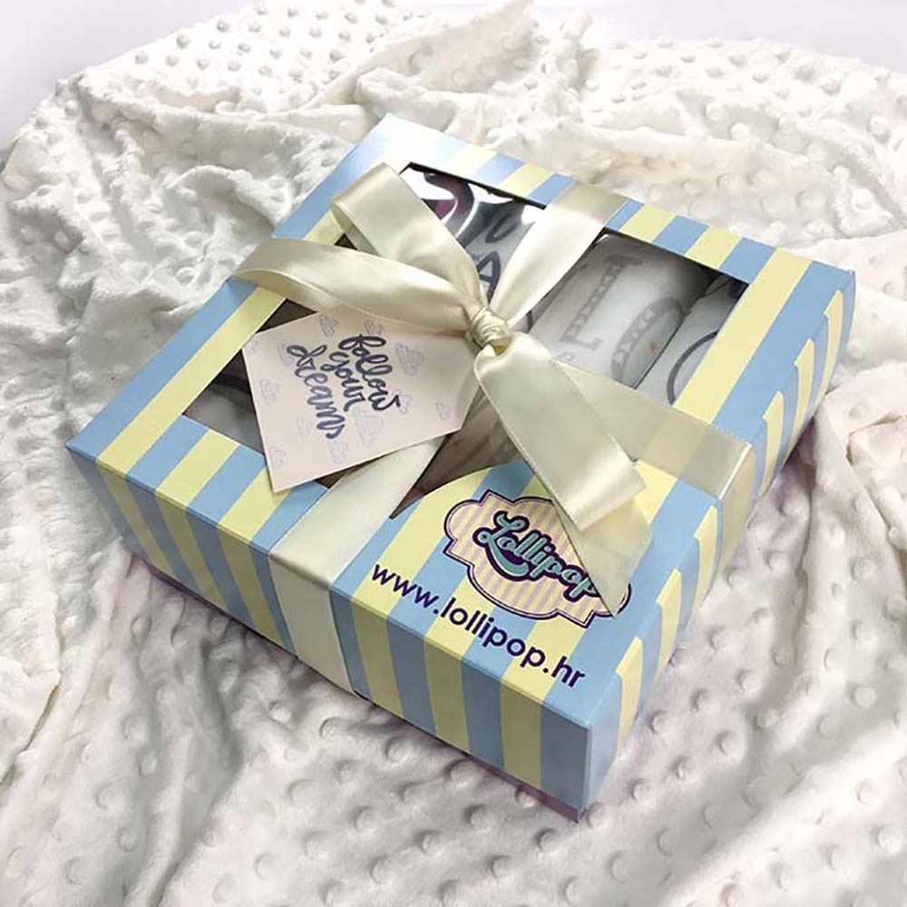 Set tetra pelena u lijepoj poklon kutiji s mašnom