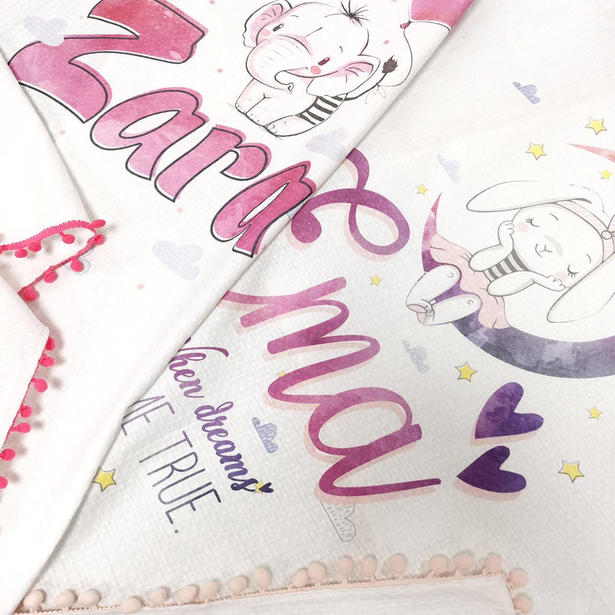 Roze personalizirane tetrice za bebe