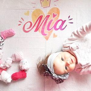 Mia personalizirana tetra pelena za bebe