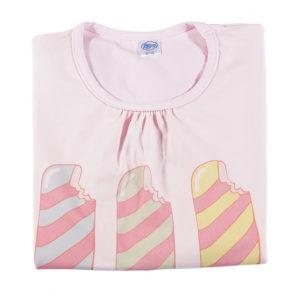 print tri sladača na rozoj majici