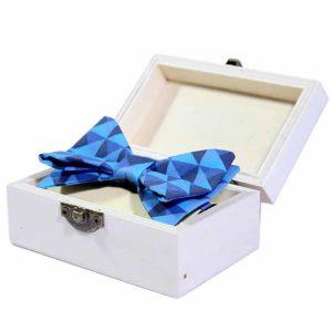 Tropic blue leptir mašna u poklon kutiji