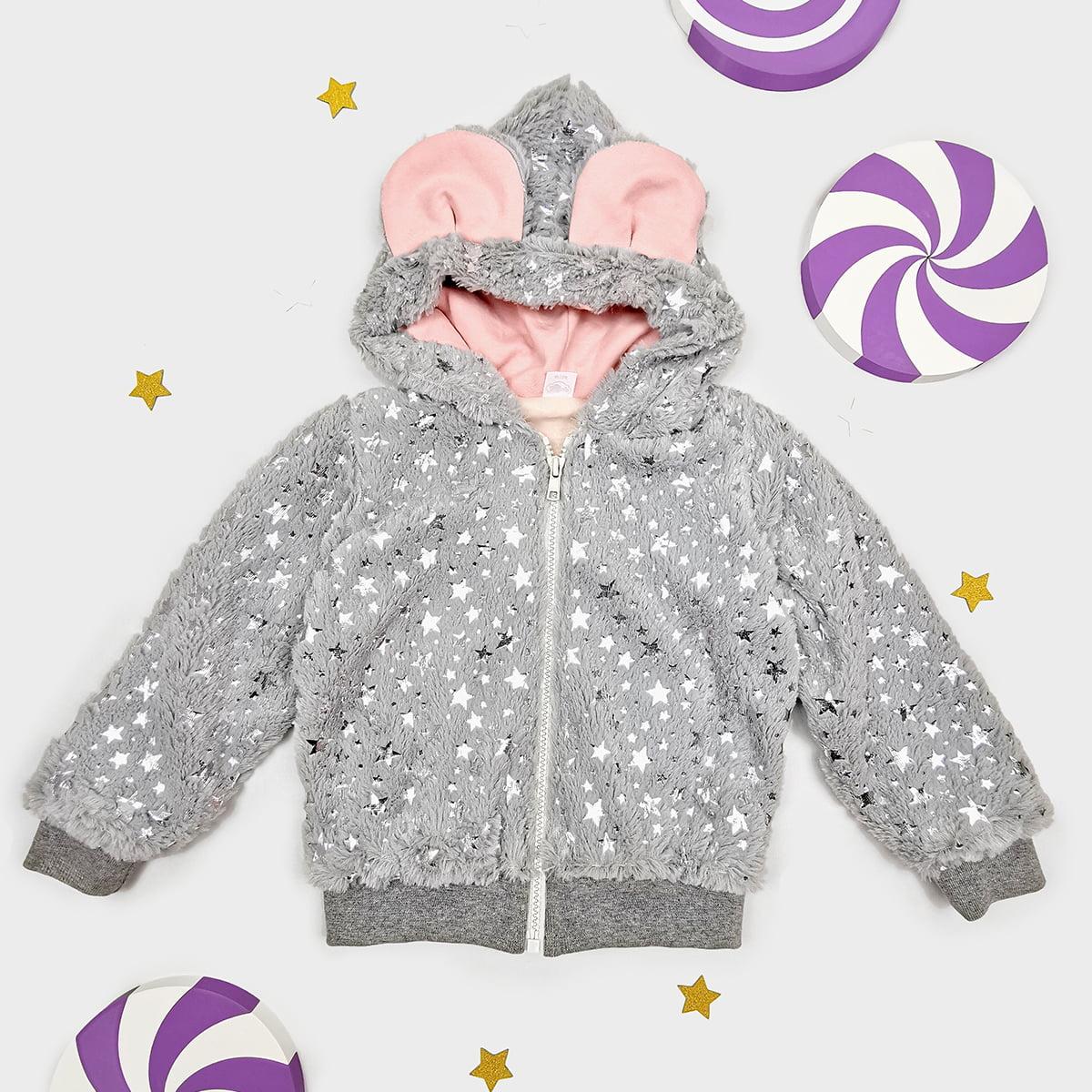 twinkle siva bundica jaknica s kapuljačom