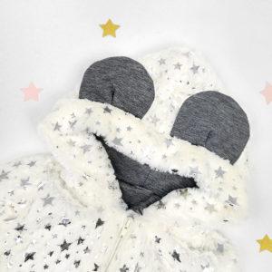 bijela twinkle jaknica s kapuljačom i ušima