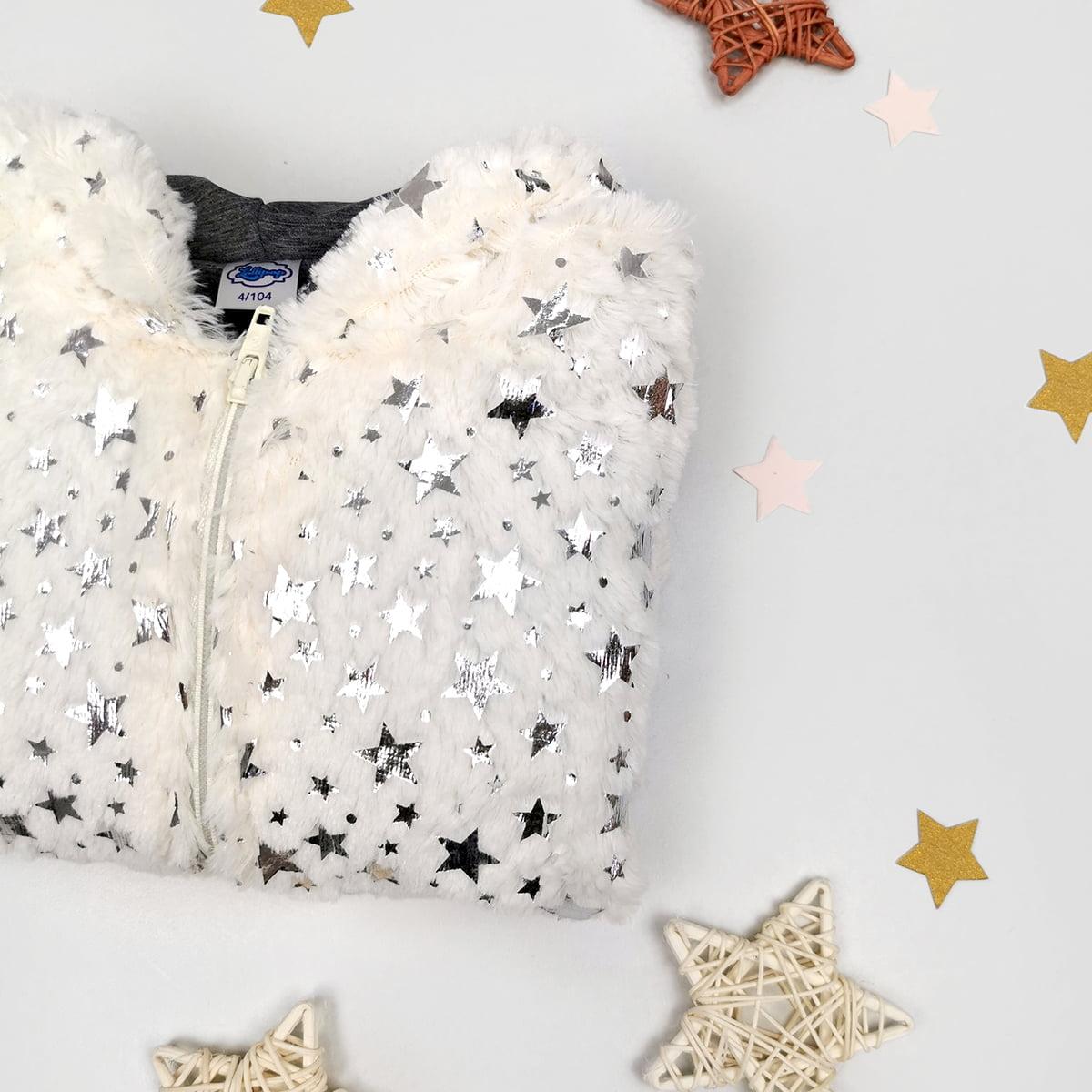 twinkle bijela jaknica od umjetnog krzna