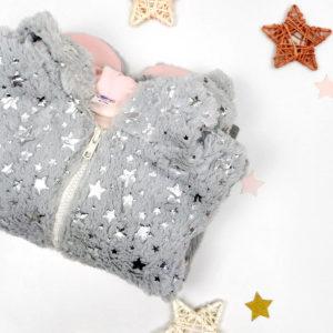 twinkle siva jaknica od umjetnog krzna