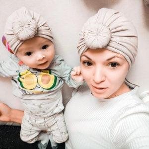 komplet turbana za mamu i bebu