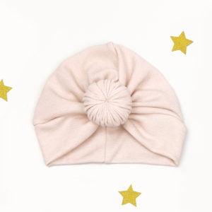 puder rozi twist turban za proljeće