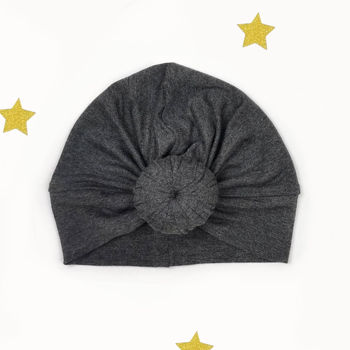 tamno sivi twist turban za proljeće