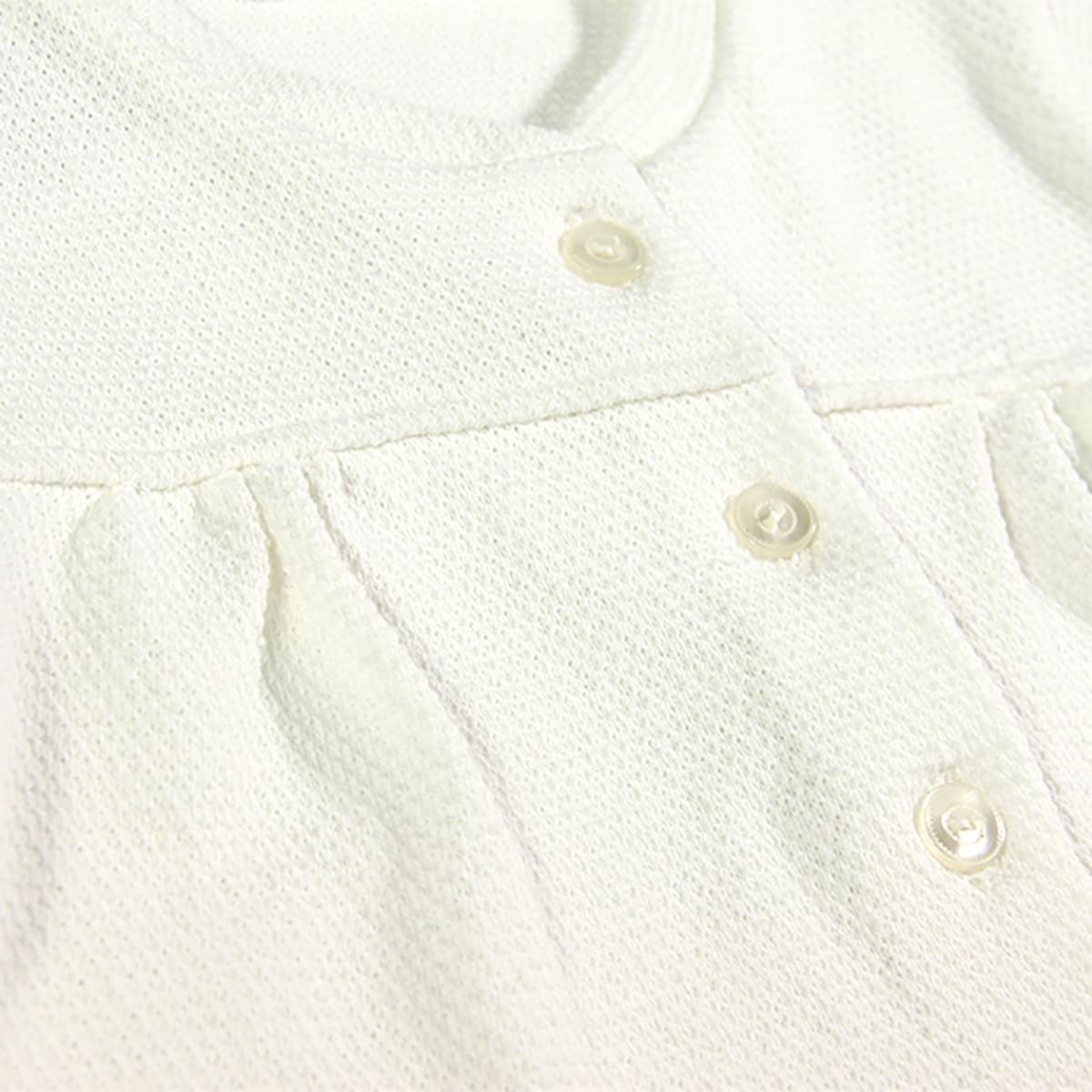 vanilla charm bijela vestica s gumbićima