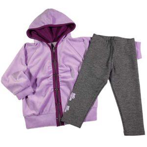 Violet plišana trenirka za bebe