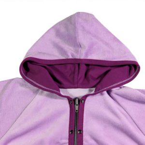 violet trenirka s kapuljačom za bebe