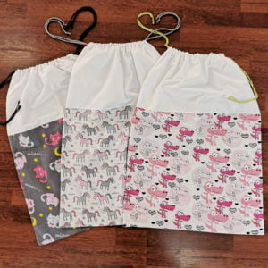 vreće za vrtićke posteljine roze
