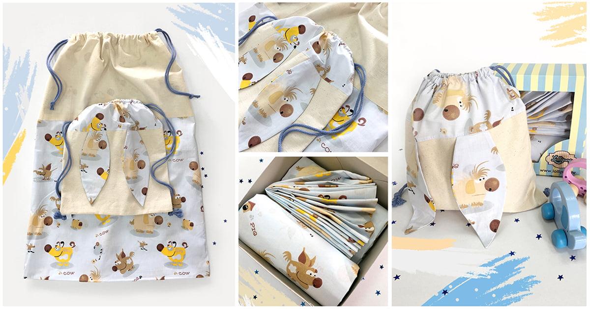 Setovi za vrtić posteljina, vreća i ruksak