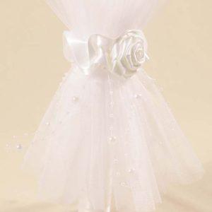 bijeli til ukras na svijeći White rose