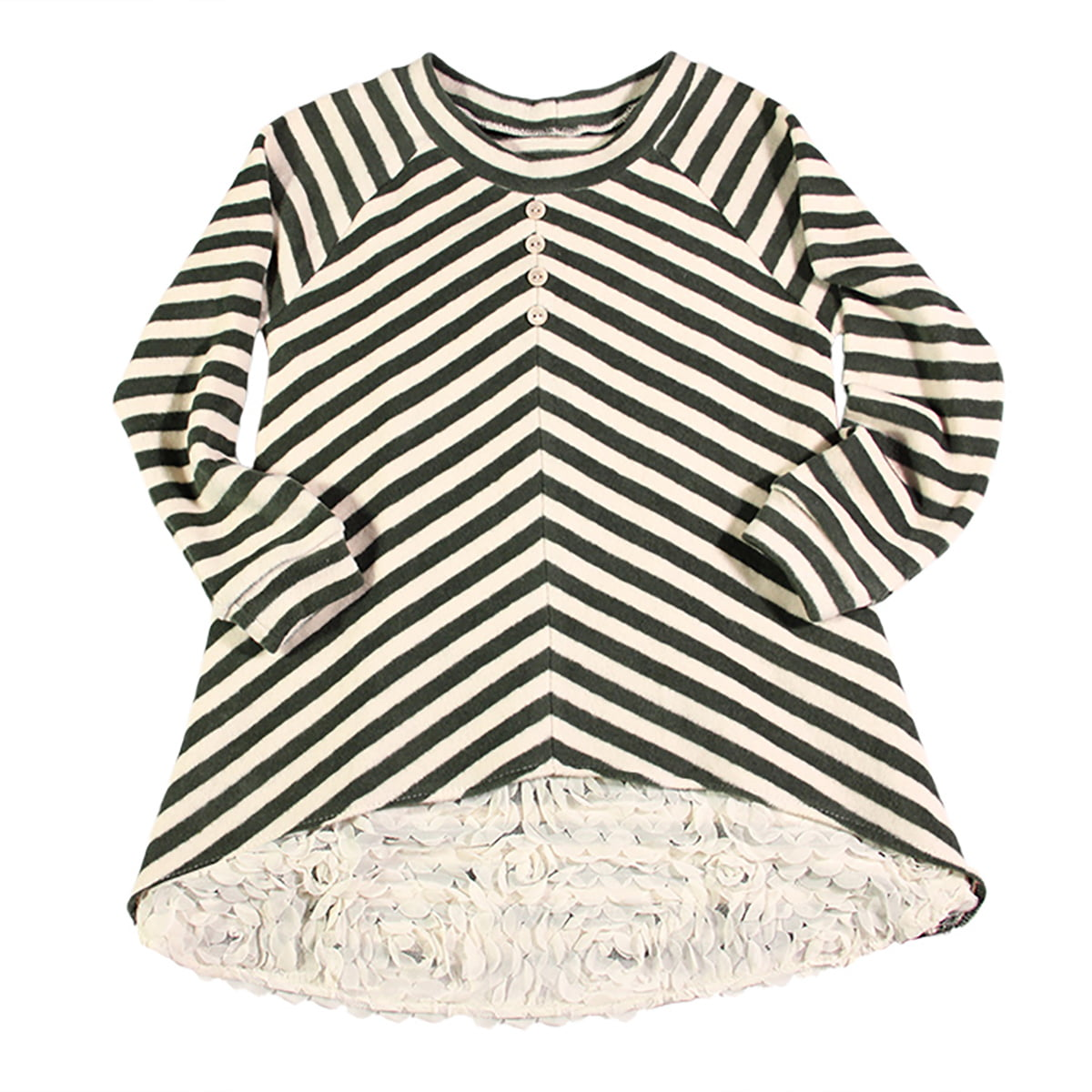 winter stripes tunika za djevojčice