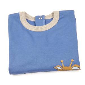 Plava majica s printom za bebe
