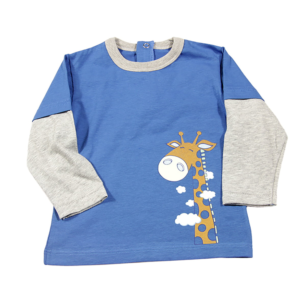 Žirafa plava majica za bebe