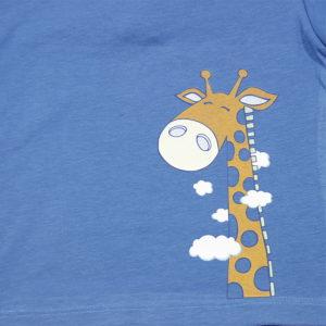 žirafa meki print na majici za bebe