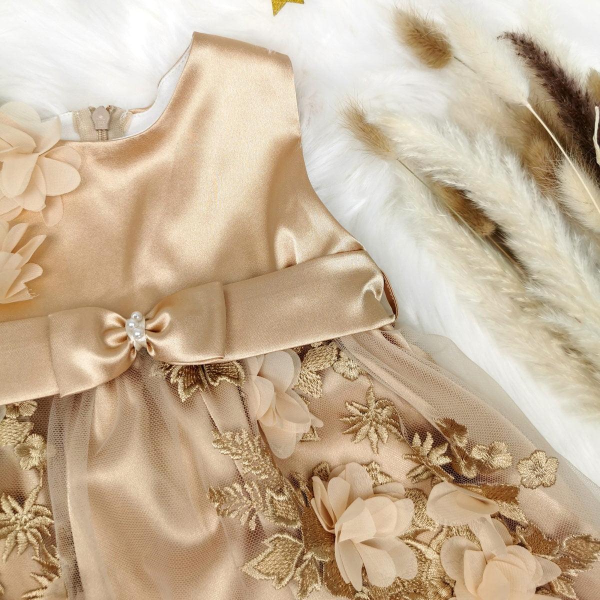 raskošna haljina zlatna magnolia