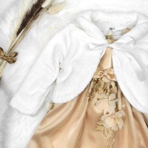 Vanilla bijela bundica u kompletu sa zlatnom magnoliom
