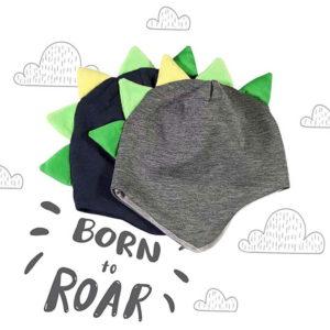 Kolekcija kapa s bodljama za bebe i dječake plava i siva